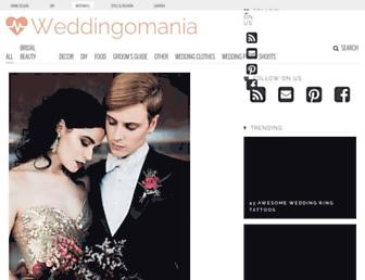 weddingomania.com screenshot