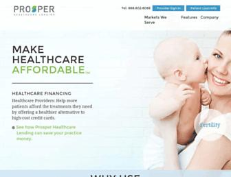 prosperhealthcare.com screenshot