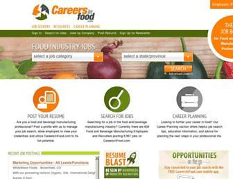 Thumbshot of Careersinfood.com