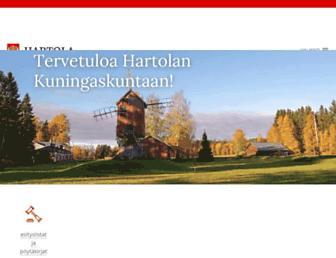 Main page screenshot of hartola.fi