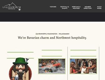 Main page screenshot of leavenworth.org