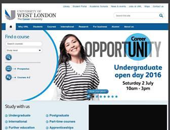 uwl.ac.uk screenshot