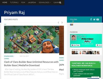 priyamraj.com screenshot