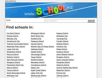 Main page screenshot of school.nz