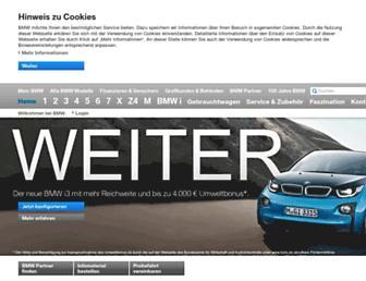 Main page screenshot of bmw.de