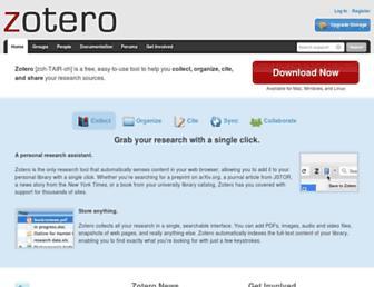 zotero.org screenshot