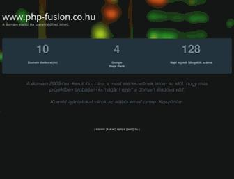 Main page screenshot of php-fusion.co.hu