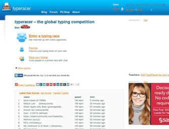 Thumbshot of Typeracer.com