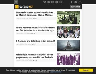 Main page screenshot of outono.net