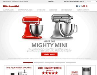 Main page screenshot of kitchenaid.ca