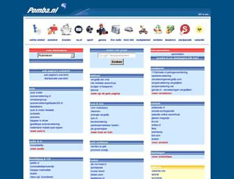 Main page screenshot of pomba.nl