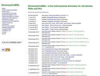 dictionarymid.sourceforge.net screenshot