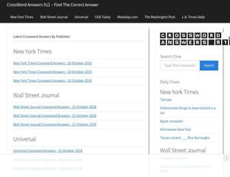 crosswordanswers911.com screenshot