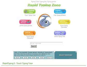 rapidtyping.com screenshot