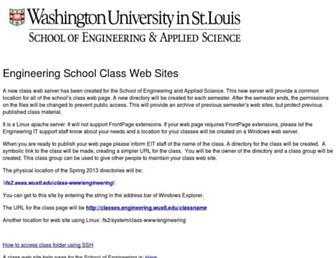 classes.engineering.wustl.edu screenshot