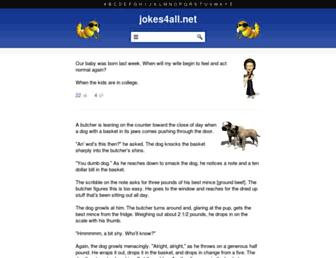 Main page screenshot of jokes4all.net