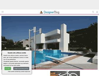 Main page screenshot of designerblog.it