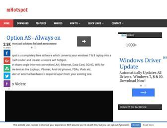 Screenshot for mhotspot.com