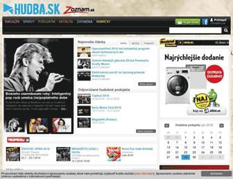 hudba.zoznam.sk screenshot