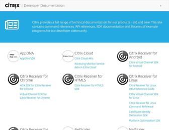 developer-docs.citrix.com screenshot