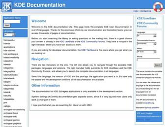 docs.kde.org screenshot