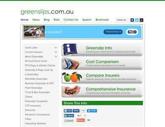 greenslips.com.au screenshot