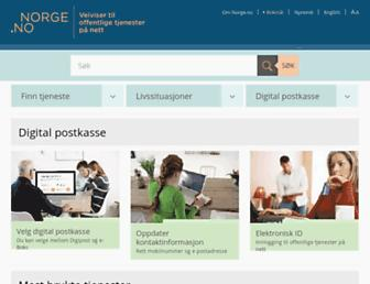 Main page screenshot of norge.no