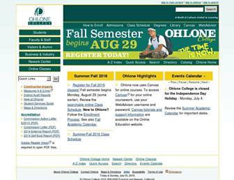 Main page screenshot of ohlone.edu
