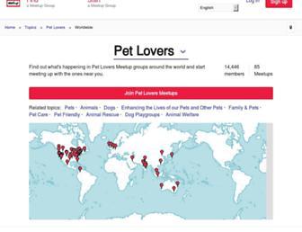 pet-lovers.meetup.com screenshot