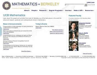 math.berkeley.edu screenshot
