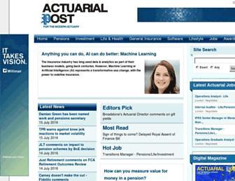 actuarialpost.co.uk screenshot
