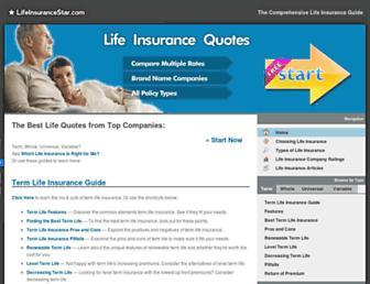 lifeinsurancestar.com screenshot