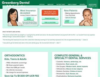 greenbergdental.com screenshot