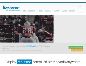 live-score-app.com screenshot