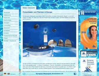 Main page screenshot of freizeitbad.de
