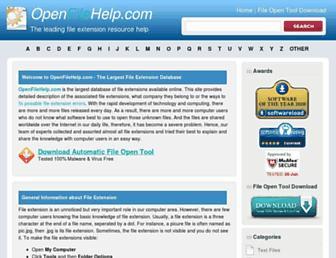 openfilehelp.com screenshot