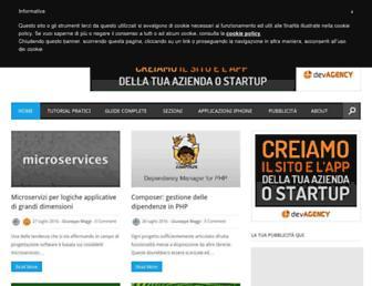 Main page screenshot of devapp.it