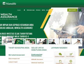 manulife-indonesia.com screenshot