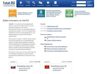 Main page screenshot of 1stat.ru