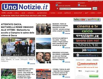 Main page screenshot of unonotizie.it