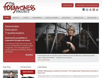 theforgivenessproject.com screenshot