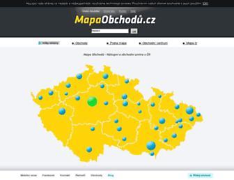 Main page screenshot of mapaobchodu.cz