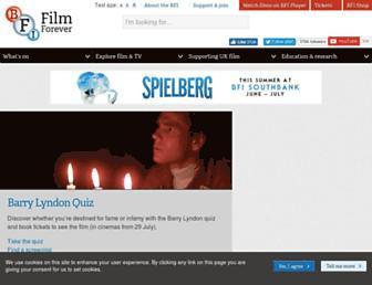 bfi.org.uk screenshot
