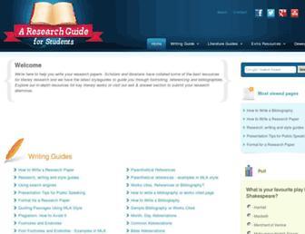 aresearchguide.com screenshot