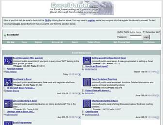 excelbanter.com screenshot