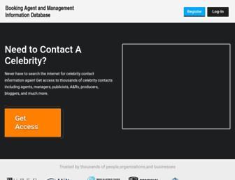 bookingagentinfo.com screenshot