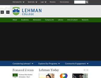 lehman.cuny.edu screenshot