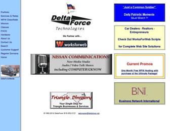 Main page screenshot of deltaforce.net