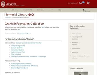 grants.library.wisc.edu screenshot