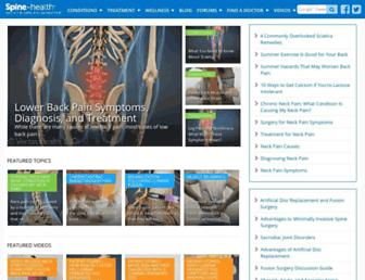 Thumbshot of Spine-health.com